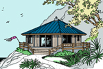 Lake House Plan Front of Home - 085D-0839 | House Plans and More