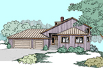 Contemporary House Plan Front of Home - 085D-0840 | House Plans and More