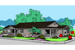 Ranch House Plan Front of Home - 085D-0841 | House Plans and More