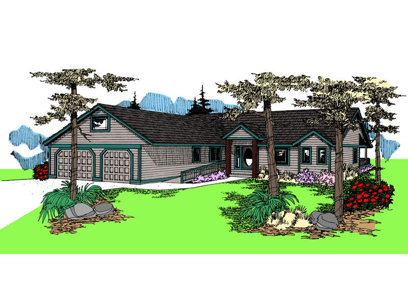 Ranch House Plan Front of Home - 085D-0842 | House Plans and More