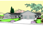 Ranch House Plan Front of Home - 085D-0843 | House Plans and More