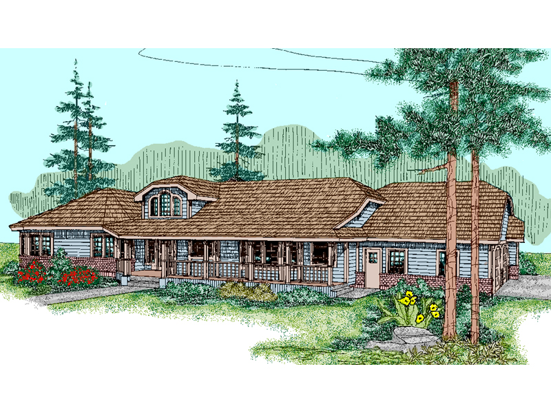 Country House Plan Front of Home - 085D-0845 | House Plans and More