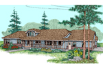 Ranch House Plan Front of Home - 085D-0845 | House Plans and More