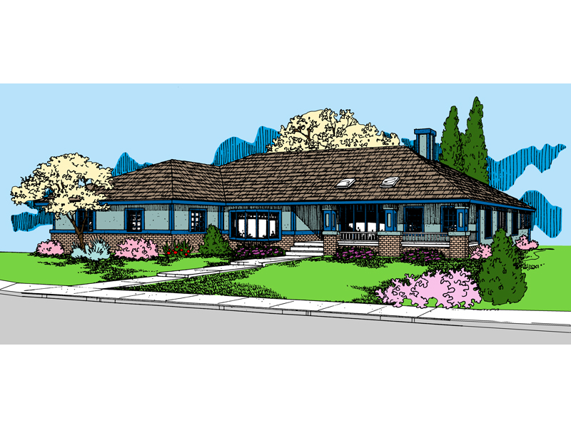 Ranch House Plan Front of Home - 085D-0848 | House Plans and More