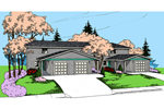 Contemporary House Plan Front of Home - 085D-0850 | House Plans and More