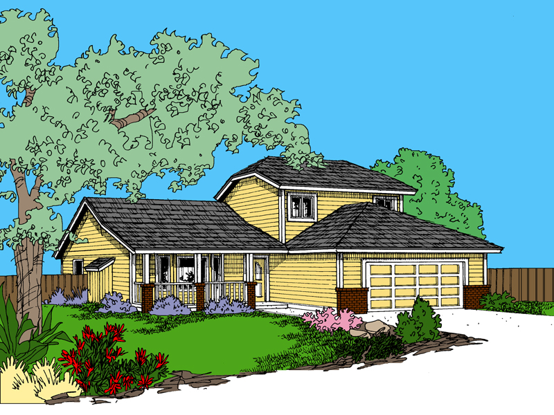 Contemporary House Plan Front of Home - 085D-0852 | House Plans and More
