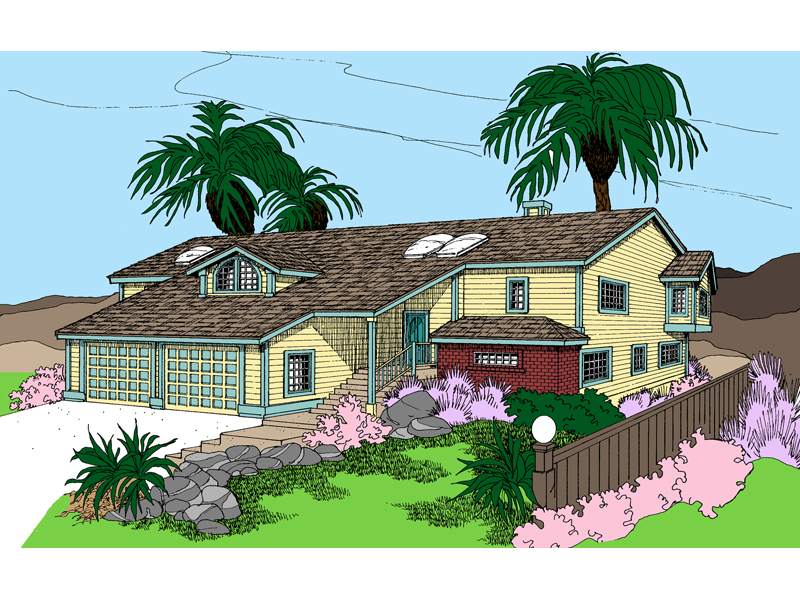 Beach and Coastal House Plan Front of Home - 085D-0853 | House Plans and More