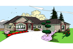 Contemporary House Plan Front of Home - 085D-0855 | House Plans and More
