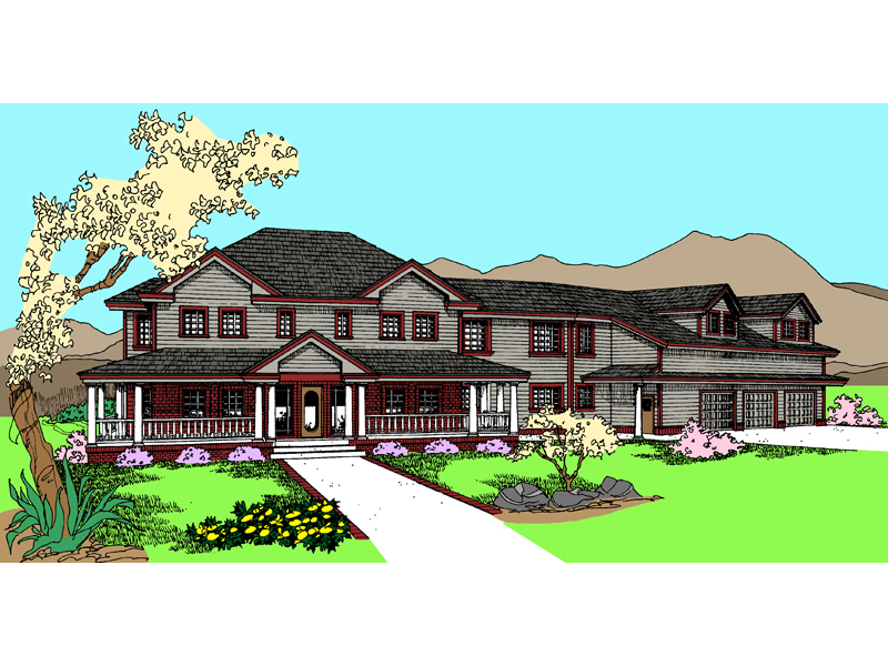 Farmhouse Plan Front of Home - 085D-0856 | House Plans and More