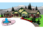 Ranch House Plan Front of Home - 085D-0857 | House Plans and More