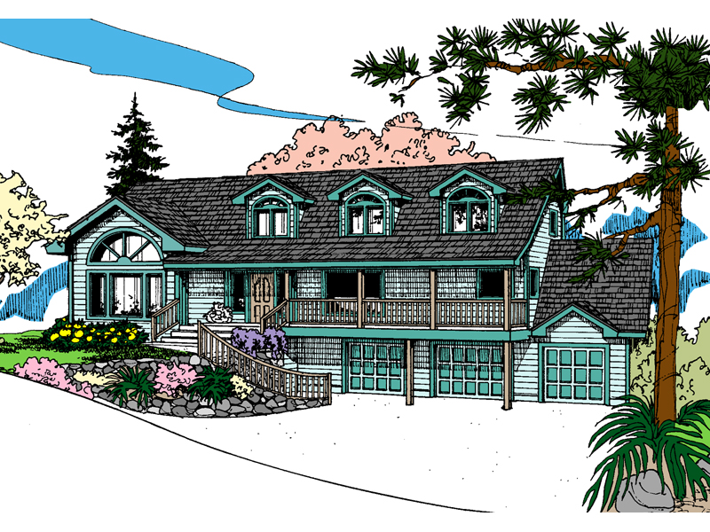 Country House Plan Front of Home - 085D-0858 | House Plans and More