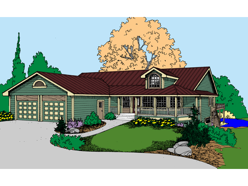 Ranch House Plan Front of Home - 085D-0860 | House Plans and More