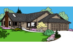 Ranch House Plan Front of Home - 085D-0861 | House Plans and More