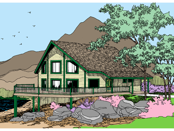 Ackerman a frame waterfront home plan 085d 0862 house for Vacation home plans waterfront