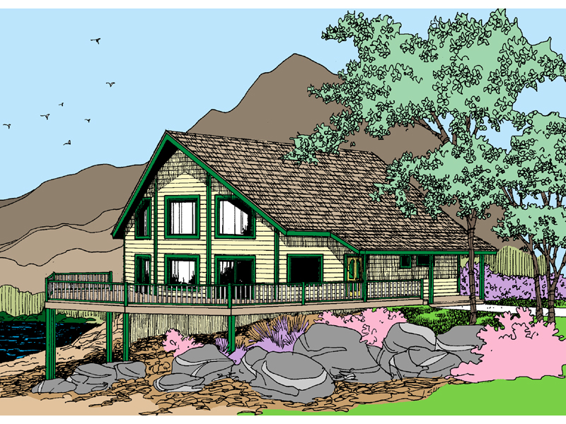 Lake House Plan Front of Home - 085D-0862 | House Plans and More