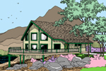 A-Frame Home Plan Front of Home - 085D-0862 | House Plans and More