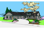 Ranch House Plan Front of Home - 085D-0863 | House Plans and More