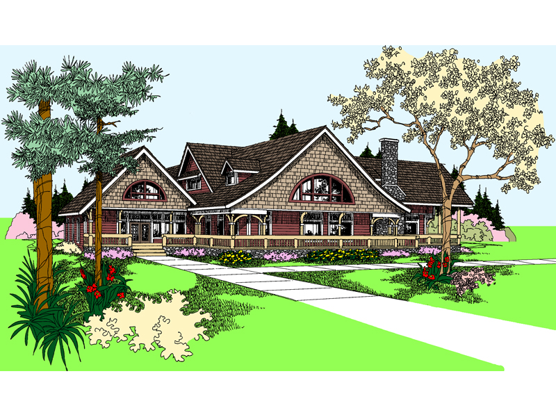 Country House Plan Front of Home - 085D-0866 | House Plans and More