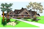 Farmhouse Plan Front of Home - 085D-0866 | House Plans and More