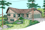 Ranch House Plan Front of Home - 085D-0868 | House Plans and More