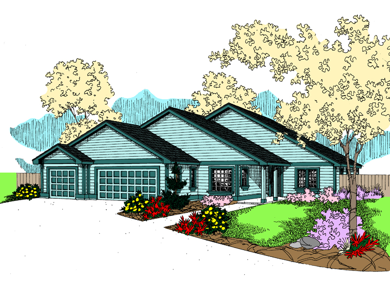 Ranch House Plan Front of Home - 085D-0870 | House Plans and More