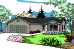 Ranch House Plan Front of Home - 085D-0871 | House Plans and More
