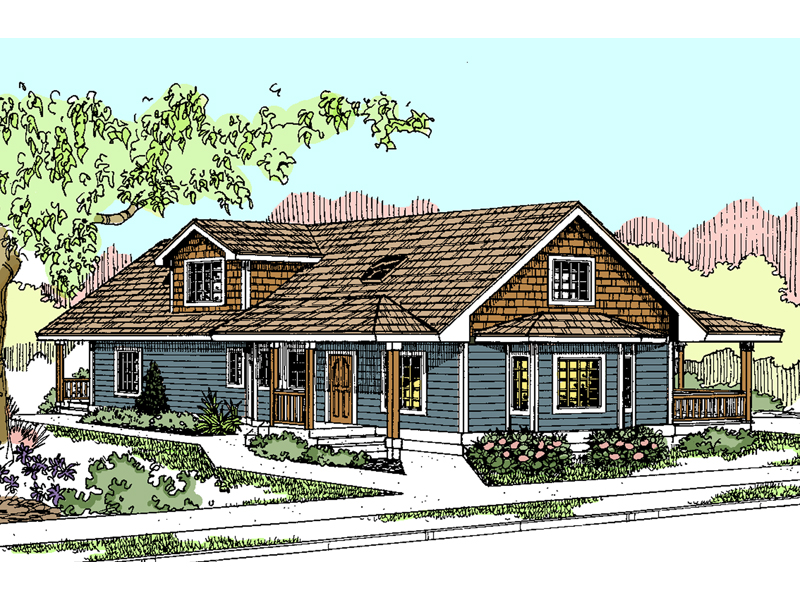 Craftsman House Plan Front of Home - 085D-0872 | House Plans and More