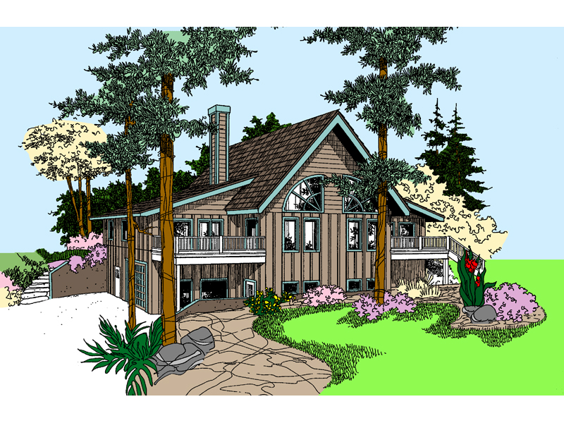 Vacation Home Plan Front of Home - 085D-0873 | House Plans and More