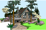 Waterfront Home Plan Front of Home - 085D-0873 | House Plans and More