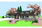Country House Plan Front of Home - 085D-0874 | House Plans and More