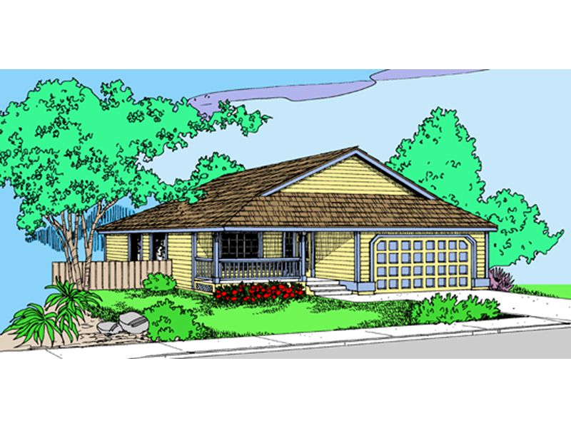 Traditional House Plan Front of Home - 085D-0876 | House Plans and More