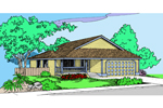 Ranch House Plan Front of Home - 085D-0876 | House Plans and More