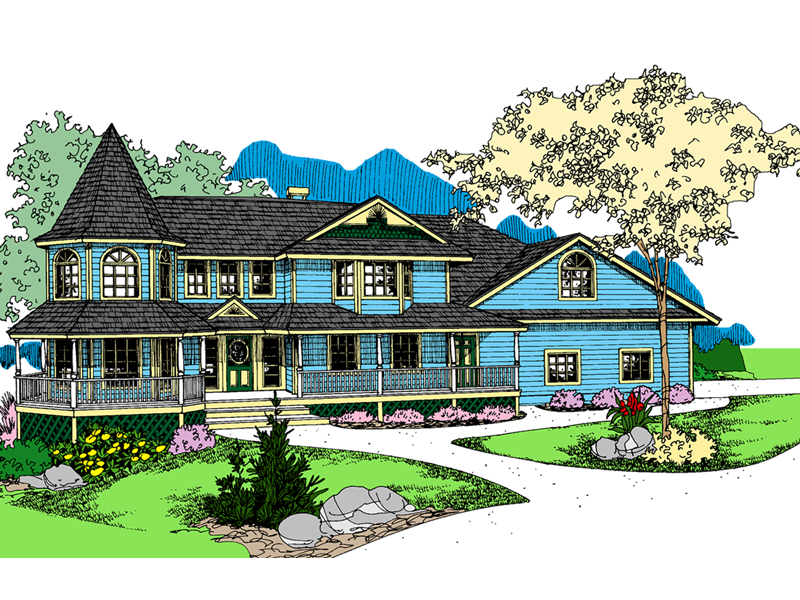 Victorian House Plan Front of Home - 085D-0877 | House Plans and More