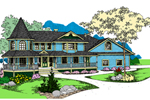Farmhouse Plan Front of Home - 085D-0877 | House Plans and More