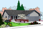 Vacation Home Plan Front of Home - 085D-0878 | House Plans and More