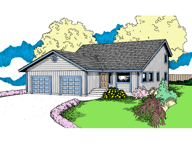 Saltbox House Plan Front of Home - 085D-0879 | House Plans and More