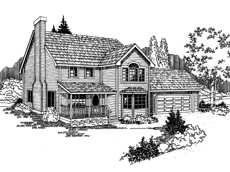 Contemporary House Plan Front of Home - 085D-0925 | House Plans and More