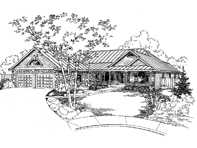 Craftsman House Plan Front of Home - 085D-0926 | House Plans and More