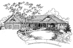 Ranch House Plan Front of Home - 085D-0926 | House Plans and More
