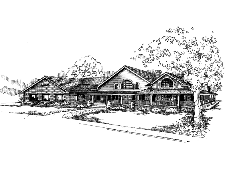 Luxury Country Home With Wrap-Around Porch