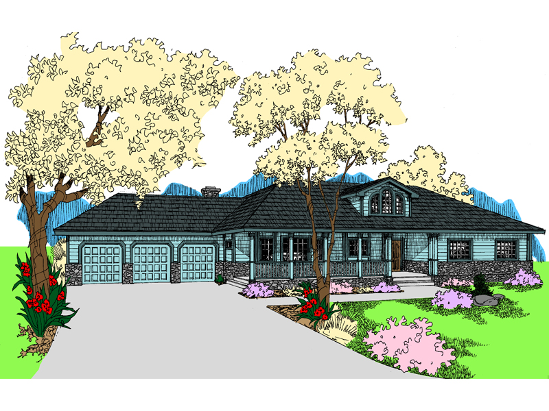 Country House Plan Front of Home - 085D-0932 | House Plans and More