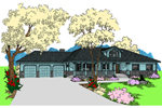 Ranch House Plan Front of Home - 085D-0932 | House Plans and More