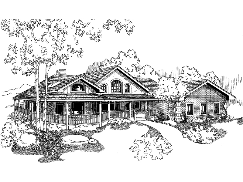 Farmhouse Plan Front of Home - 085D-0933 | House Plans and More