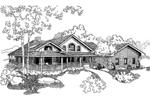Ranch House Plan Front of Home - 085D-0933 | House Plans and More