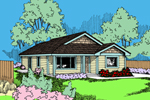 Contemporary House Plan Front of Home - 085D-0934 | House Plans and More
