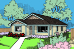 Ranch House Plan Front of Home - 085D-0935 | House Plans and More