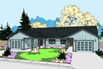 Ranch House Plan Front of Home - 085D-0936 | House Plans and More