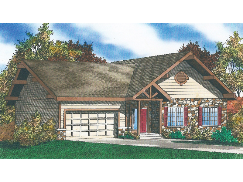 chattanooga rustic ranch home plan 086d 0117 house plans