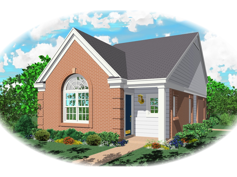 Brick Ranch Home With Prominent Arched Window