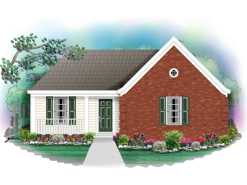 Inviting Ranch House Has Brick And Siding Plus A Covered Porch